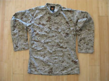 USMC Desert Marpat utilities used MCCUU Small Short Blouse Shirt camoflauge SS