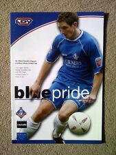 Oldham Athletic v Accrington Stanley - LDV Vans Trophy 1st Rnd 2004/05 PROGRAMME