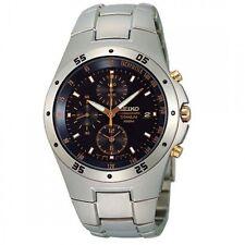 SND451 SND451P1 Seiko Men Chronograph Titanium Watch