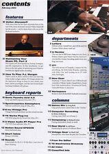 2003 Walter Afanasieff, E-mu Vintage Pro KEYBOARD Magazine, Motion Sound KP200S