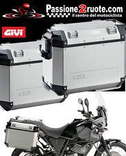 Coppia Valigie laterali Givi Trekker Outback 37 + PL2105CAM Yamaha Xt660z Tenere