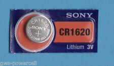 1 x Sony Batterie CR1620 Lithium 3V Knopfbatterie CR 1620 Knopfzelle Auto