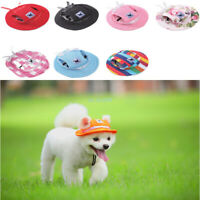 Pet Dog Hats Princess Hat Sports Windproof Travel Sun Hats for Puppy Large Dogs