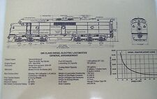 GM CLASS DIESEL-ELECTRIC LOCOMOTIVE  METALIC SILVER STEEL PLATE