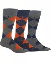 POLO Ralph Lauren Men's Dress Argyle Crew 3 Pack Socks; Socks Size 10-13
