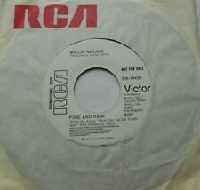 WILLIE NELSON Fire and Rain / I'm a Memory Ex to NM- CANADA PROMO 1975 RCA 45