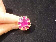 LIQUIDATION CLEARANCE!! $36000 RARE 18KT LRG 15CT RUBY AND YELLOW DIAMOND RING