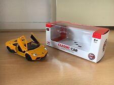Lamborghini Reventon sportcar model car toy diecast light sound TY Models 1:36