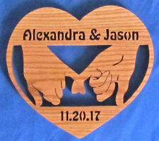 Personalized Wedding or Anniverary Pinky Plaque - A+ Gift
