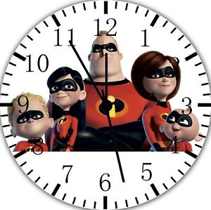 Disney The Incredibles Frameless Borderless Wall Clock Nice For Gifts Decor F78