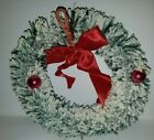 Vintage Bottle Brush Christmas Wreath