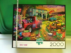 Quilt Farm 2000 Piece Jigsaw Puzzle By Buffalo Games with Poster