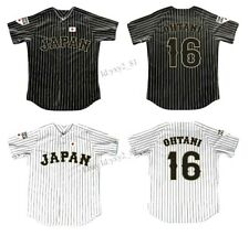 Throwback Shohei Ohtani 16 Japan Baseball Jersey All Stitched Angels Fans Shirts