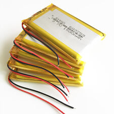 5 pcs 1500mAh 3.7V Lipo Battery li-Polymer For PAD Cell phone Camera GPS 603759
