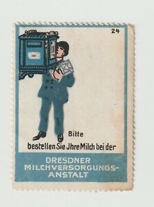 Germany- Dresdner Milk Process No.24. Poster stamp with NO GUM