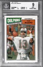 1987 Topps #233 Dan Marino Dolphins BGS 9.0 1905