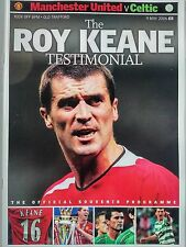 Roy Keane Testimonial Manchester United v Celtic 9/5/2006 Mint + Poster insert