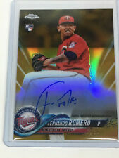 2018 Topps Chrome FERNANDO ROMERO SSP GOLD #50 Autograph rc baseball card