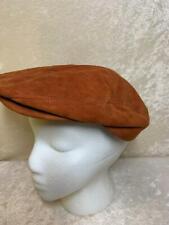 Vintage Louisville Cap Co. Suede Leather Newsboy Cabbie Golf Cap Hat 7 1/4