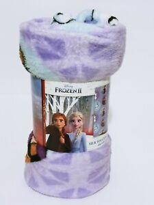 """Disney Frozen Fleece Large 45""""X55"""" Throw Blanket Elsa Sister Adventure Amazing"""