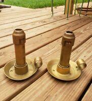 "Pair 6"" RARE Vintage Joseph Ratcliff  Brass Candlestick George Burt Birmingham"