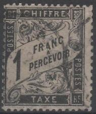 """FRANCE STAMP TIMBRE TAXE N° 22 """" TYPE DUVAL 1F  NOIR """" OBLITERE TB A VOIR"""