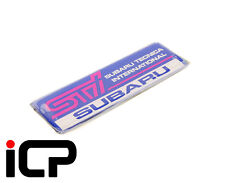 Genuine Tailgate STi Badge Fits: Subaru Impreza WRX STi JDM Wagon GGB 00-02