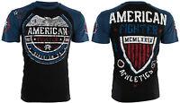 AMERICAN FIGHTER Mens T-Shirt SHERMAN Eagle BLACK Athletic Biker Gym MMA $40