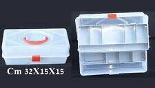 bauletto valigetta da pesca porta accessori box scatola surfcasting trota