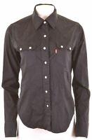 LEVI'S Womens Shirt Size 12 Medium Black Cotton  DR03