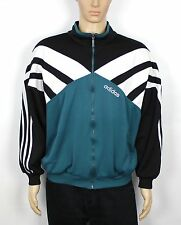 VINTAGE ADIDAS GREEN 80S RARE OLD SCHOOL TRACKSUIT JACKET TOP SIZE XL (SW252)
