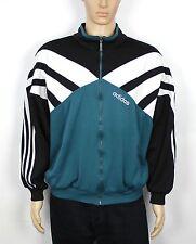 De Colección Adidas Verde 80S rara Vieja Escuela Chándal Chaqueta Top Talla Xl (SW252)