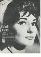 """1965 Maria Callas """"tosca"""" Album Ad/Tito Gobbi/Carlo Bergonzi/Georges Pretre"""