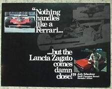 LANCIA ZAGATO USA Car Sales Brochure 1981 #0083 125M 9 80