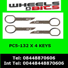 PC5-132 VW VOLKSWAGEN POLO 2005> RADIO REMOVAL RELEASE EXTRACTION KEYS X 4