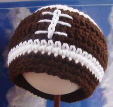 New Football Baby Hat Newborn boy 0-3mo soft knit fall beanie nfl fan mom gift