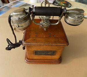 Ancien Telephone Type Marty 1913 Bel Etat