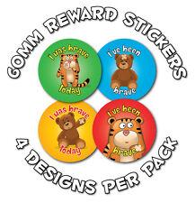 36 X 60mm valentía, Para Niños recompensa Stickers-las escuelas, los médicos, enfermeras