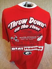 Georgia Bulldogs vs Florida Gators Throw Down on the River T-Shirt Sz XL~NEW TAG