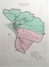 BARNSTAPLE, DEVON, ENGLAND Street Plan, Dawson Original antique map 1832