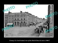 OLD LARGE HISTORIC PHOTO OF FERMOY CORK IRELAND, PATRICK St & STORES c1900 2