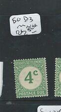 MALAYA STRAITS SETTLEMENTS (P0610B) 4C POSTAGE SG D3 MNH