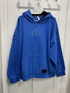 Daniel Patrick x James Harden Adidas Hoodie Basketball FR5758 Blue Mens Size 4XL