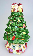 Spode Christmas Tree Tea Light Candle Holder Figural Hand Painted