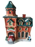 Trim A Home Lighted Christmas Village Fire Station No. 6 Building