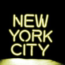 "New York City Yellow Neon Lamp Sign 14""x10"" Acrylic Bright Lighting Artwork Bar"