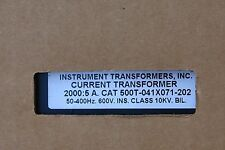 INSTRUMENT TRANSFORMERS NIB 500T-041X071-152 600 V CURRENT TRANSFORMER