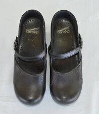 DANSKO EU 36 US 6 Black Marah Mary Jane Stapled Clog Shoes Nursing Professional