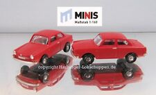 N - Lemke Minis LC4119 PKW-Set 2teilig VW 1600L rot-orange