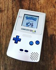 Nintendo GameBoy Color Colour Game Boy Handheld Silver Blue BACKLIT Console GBC